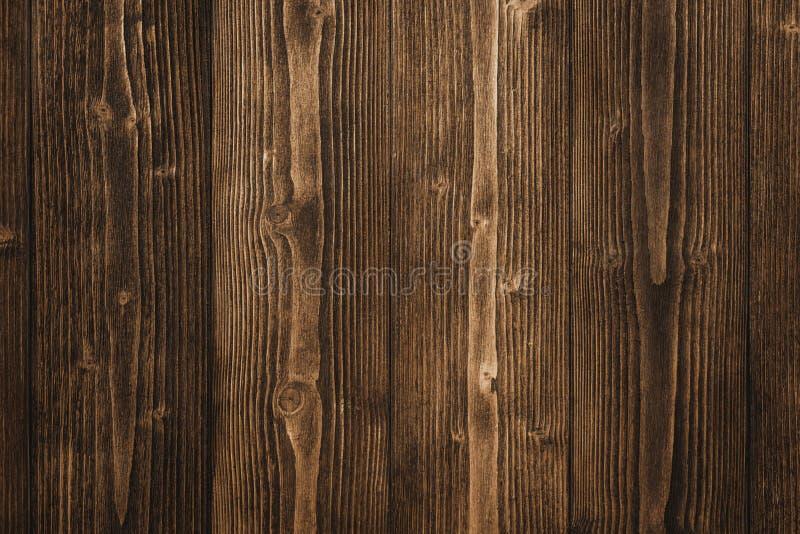 Textura de madeira do marrom escuro com fundo natural do teste padrão listrado fotos de stock