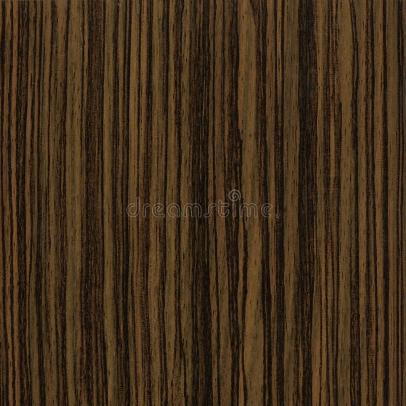 Textura de madeira do negro de Zebrano ao fundo fotos de stock