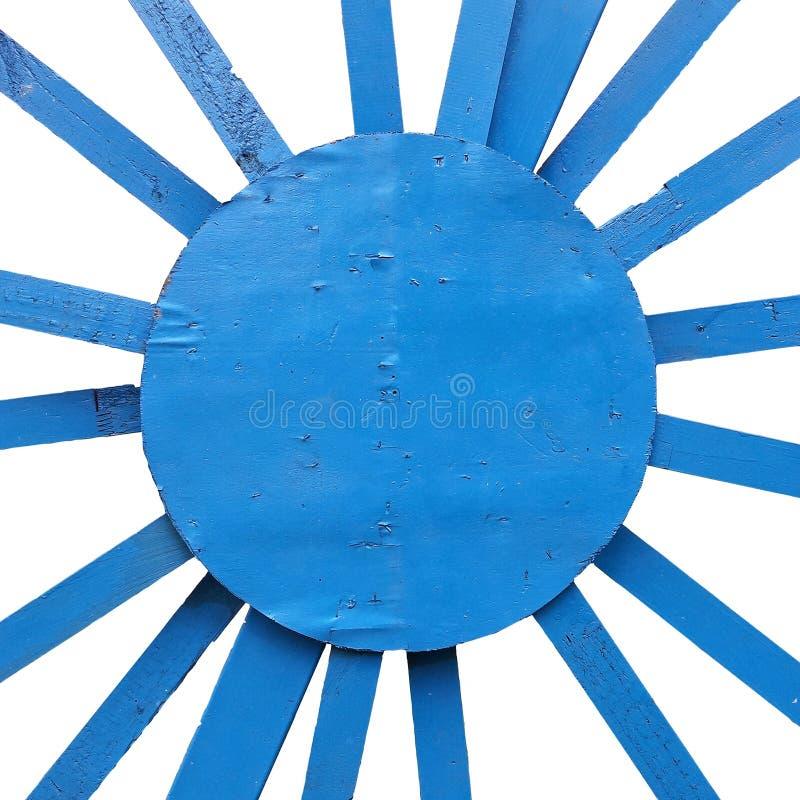 Textura de madeira do raio diagonal azul isolada nos fundos brancos foto de stock
