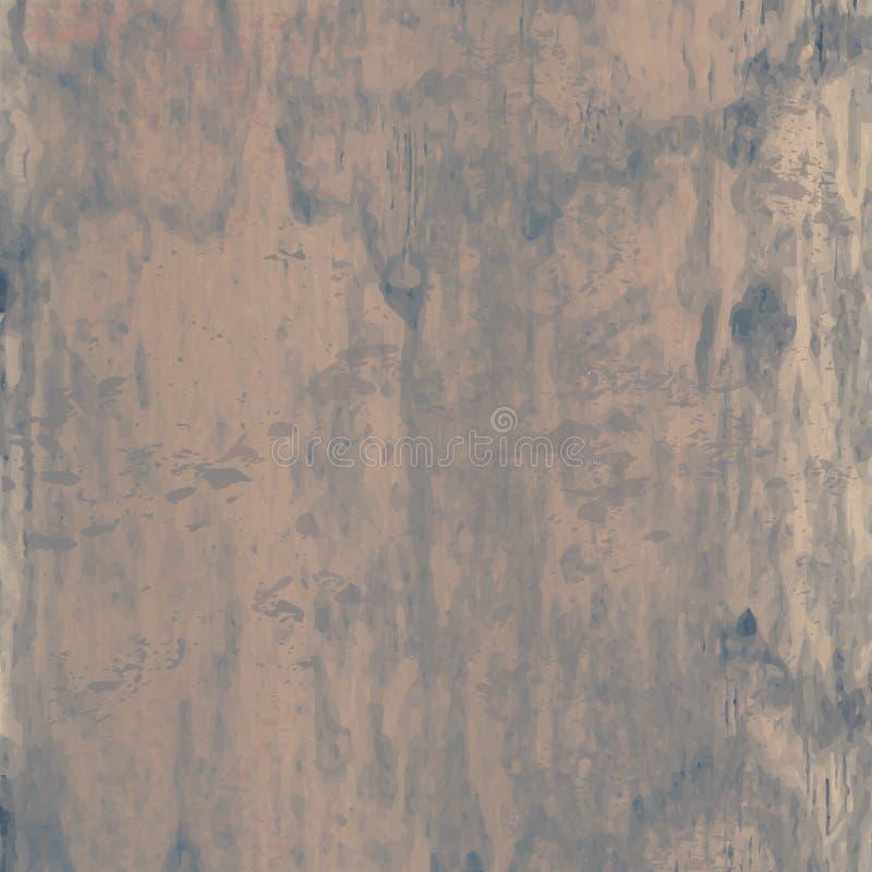 Textura de madeira do vintage retro do Grunge, fundo do vetor Sumário ilustração stock