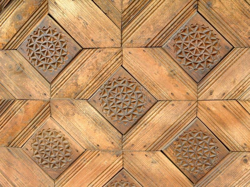 Textura de madeira esquadrada do teste padrão imagens de stock royalty free