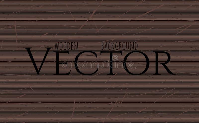 Textura de madeira, ilustração do vetor Eps10 Ebony Wooden Background natural ilustração do vetor