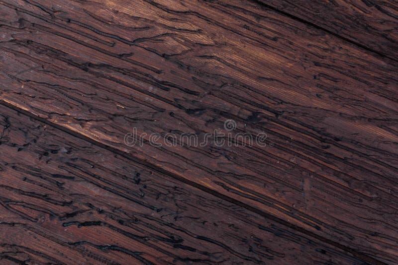 Textura de madeira preciosa Do aspecto rústico e escuro, o ocre, marrom, brindou, enegrece tons imagem de stock