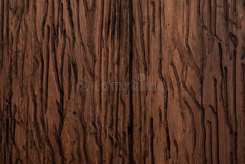 Textura de madeira preciosa Do aspecto r?stico e escuro, o ocre, marrom, brindou, enegrece tons imagens de stock royalty free