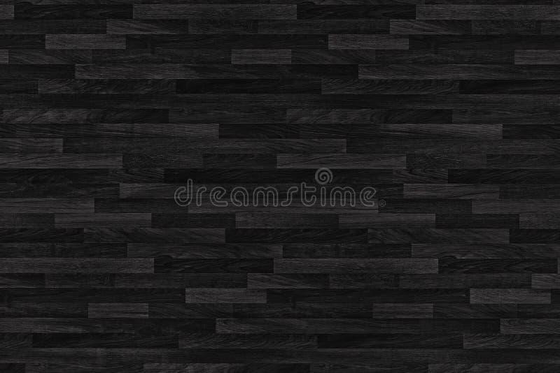 Textura de madeira preta do parquet painéis velhos do fundo foto de stock