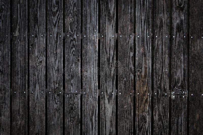 Textura de madeira preta painéis velhos do fundo Prancha, parquet 1 foto de stock