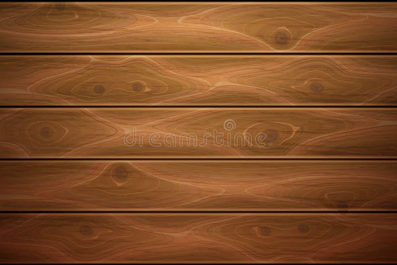 Textura de madeira realística do fundo da madeira do vetor ilustração royalty free