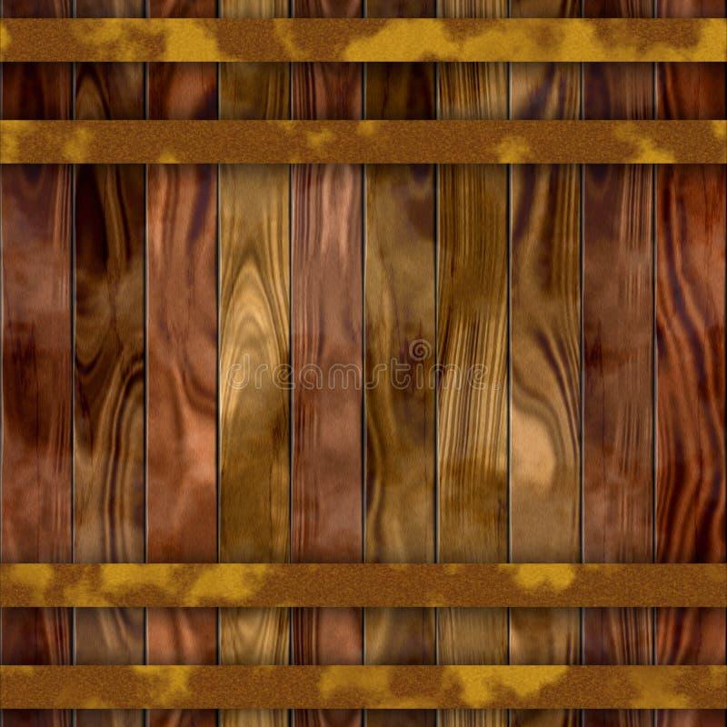 Textura de madeira sem emenda do tambor ilustração royalty free
