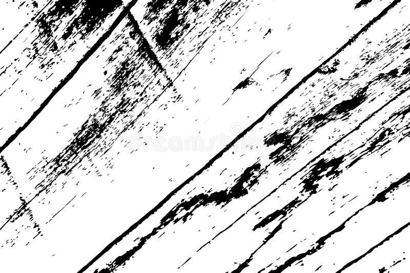 Textura de madeira suja Textura preto e branco resistida da madeira Superfície de madeira áspera da placa ilustração royalty free