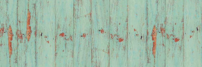Textura de madeira verde velha da parede da prancha foto de stock