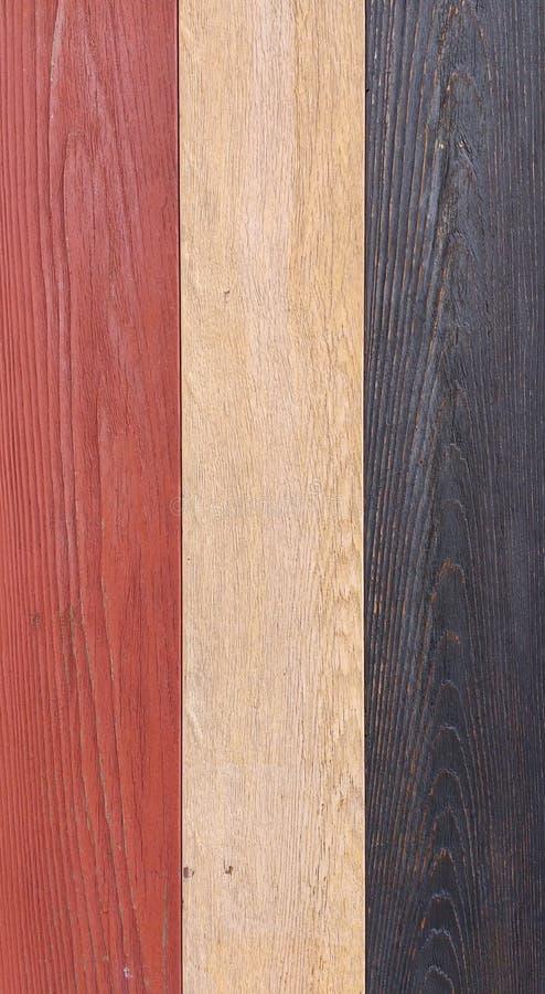 Textura de madeira, vermelho, branco, e fundo de madeira azul, parede colorida da prancha da madeira fotos de stock royalty free