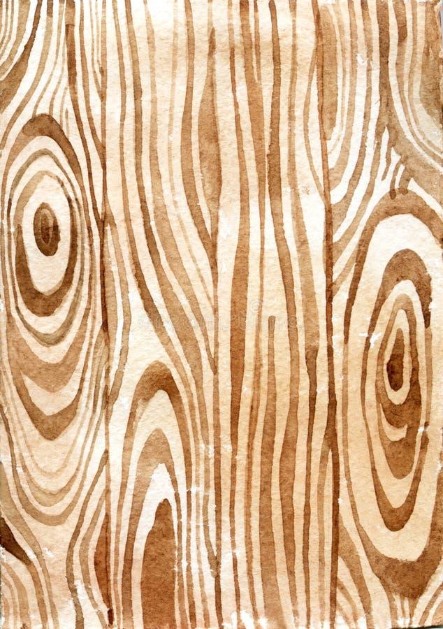 Textura de madeira watercolor ilustração do vetor