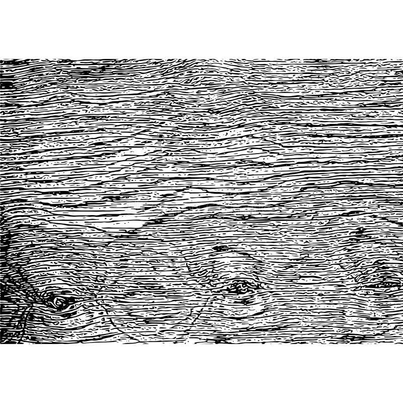 Textura de madera apenada de la capa Fondo de madera de Grunge Viejo ejemplo rústico del vector de la plantilla ilustración del vector
