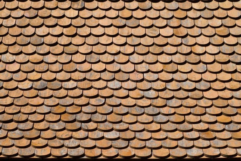 Textura de madera asiática de la azotea imágenes de archivo libres de regalías