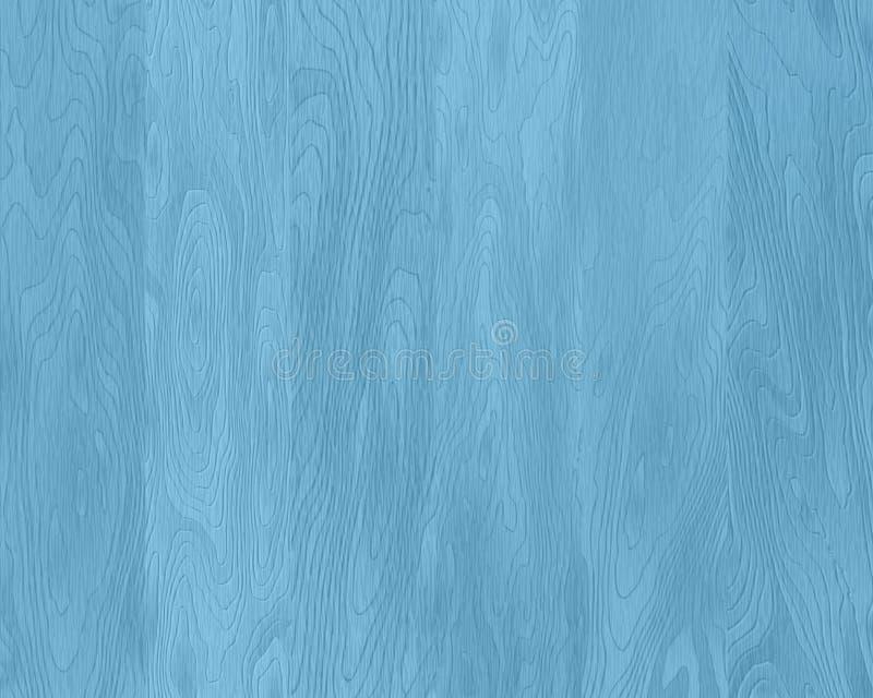 Textura de madera azul natural, tableros pintados, fondo de madera realista stock de ilustración