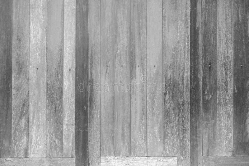 Textura de madera blanco y negro del modelo para el fondo Surfac de madera foto de archivo libre de regalías