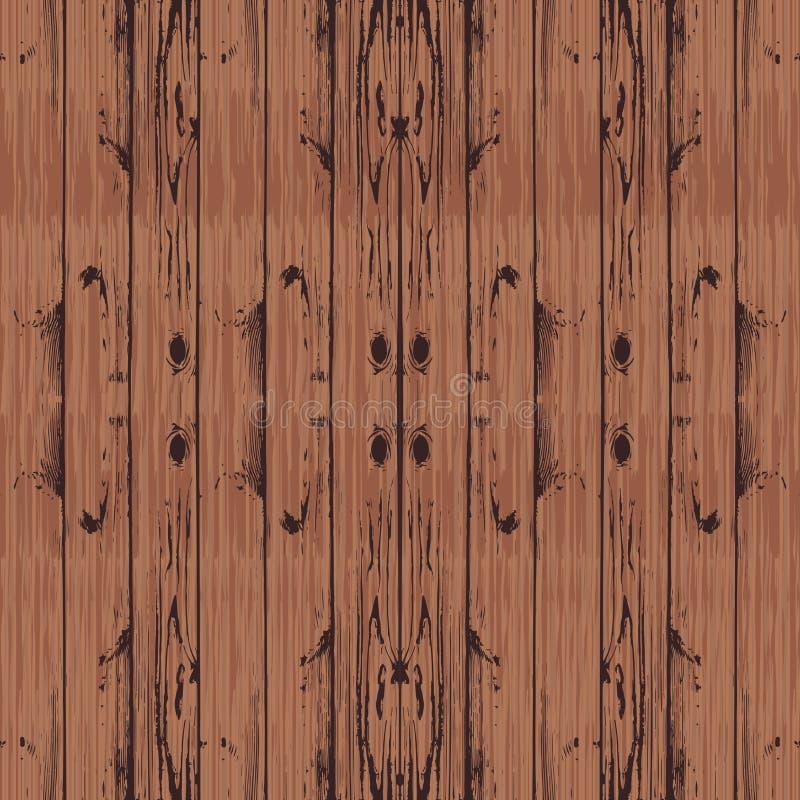 Textura de madera de Brown Vector Fondo de los tablones libre illustration