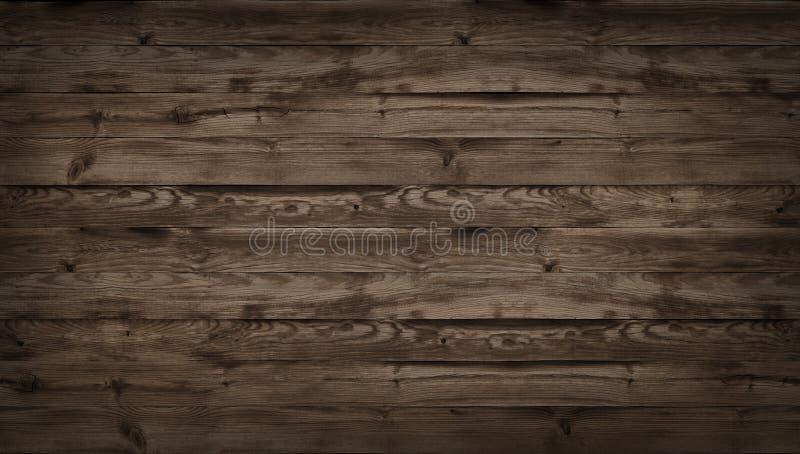 Textura de madera de Brown, vista superior de la tabla de madera Textura oscura del fondo de la pared de la tabla superior vieja, fotos de archivo libres de regalías