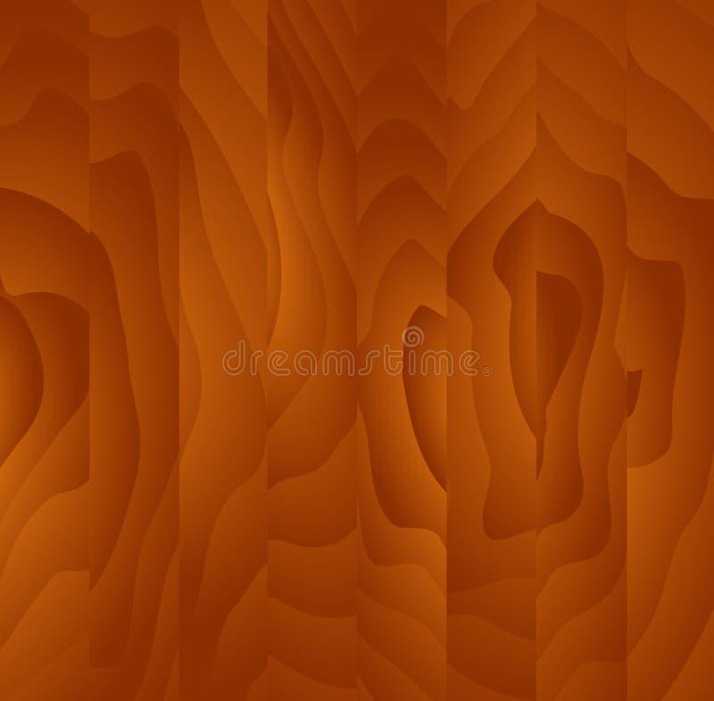 Textura de madera de caoba stock de ilustración