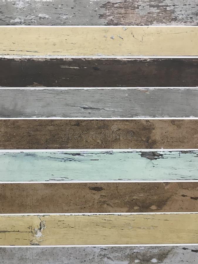 Textura de madera coloreada apenada vintage del fondo de los listones imagen de archivo libre de regalías