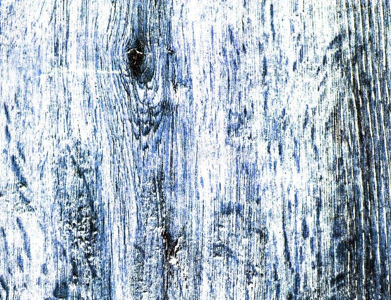 Textura de madera coloreada del alto contraste en tonos azules imágenes de archivo libres de regalías