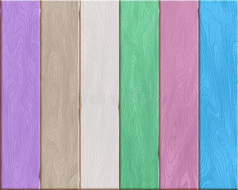 Textura de madera colorida natural, tableros pintados, fondo de madera realista libre illustration
