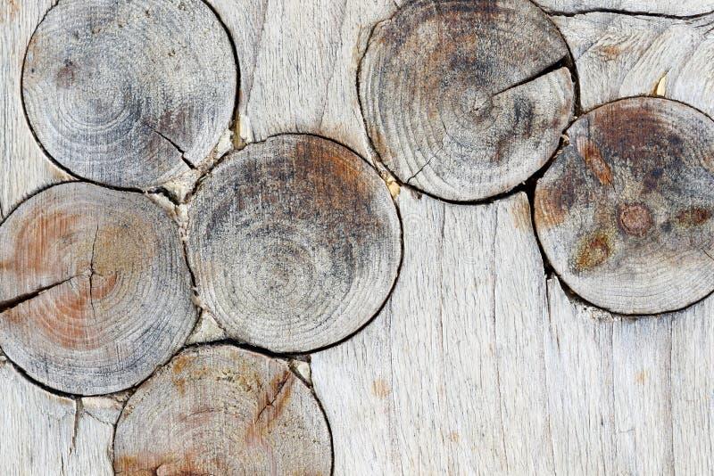 Textura de madera con los nudos fotos de archivo