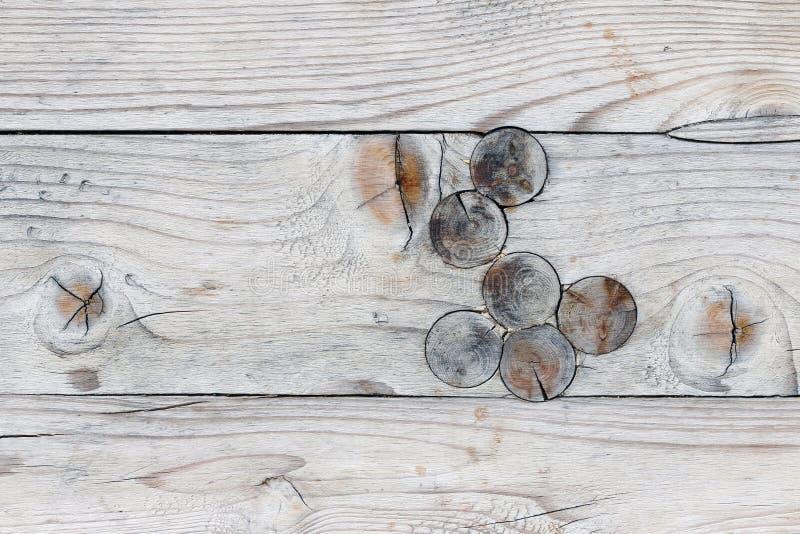 Textura de madera con los nudos fotografía de archivo