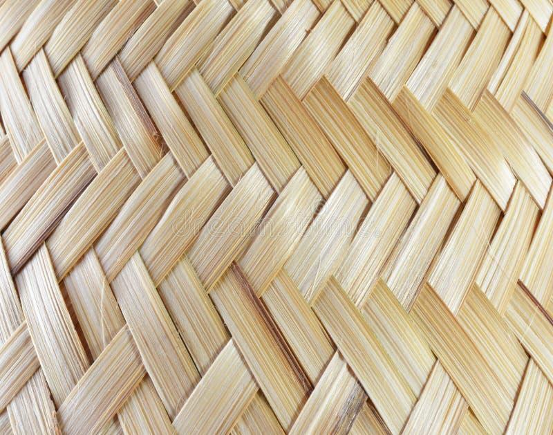 Textura de madera de bambú, trabajo hecho a mano fotos de archivo libres de regalías