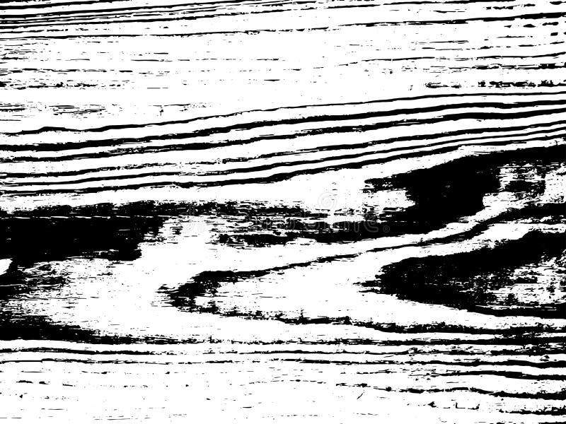 Textura de madera de la capa de los tablones del Grunge de la raya del vector stock de ilustración