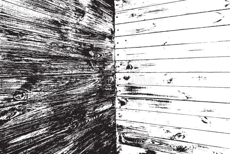 Textura de madera de la desolación stock de ilustración