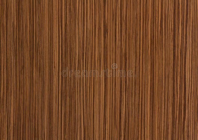 Textura de madera de Zebrano, fondo del grano foto de archivo libre de regalías