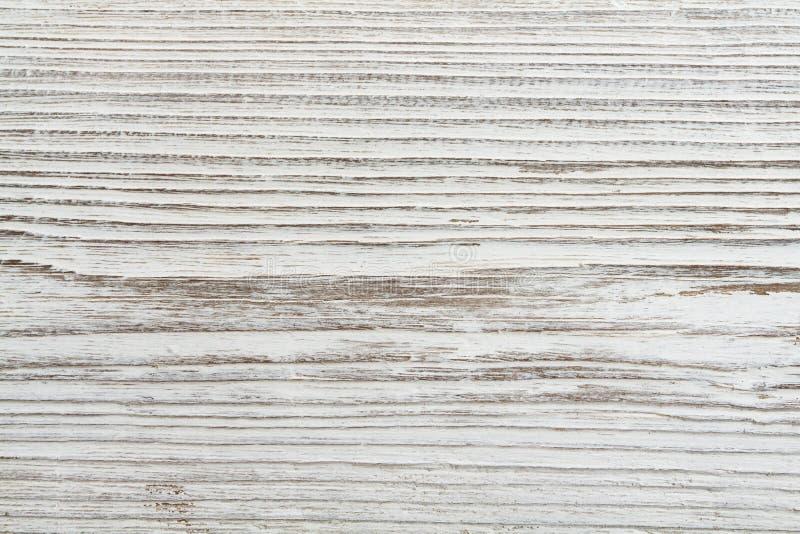 Textura de madera del grano, fondo de madera blanco del tablón fotografía de archivo