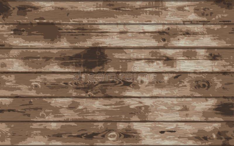 Textura de madera del grunge Fondo de madera del tablón Ilustración del vector eps10 libre illustration