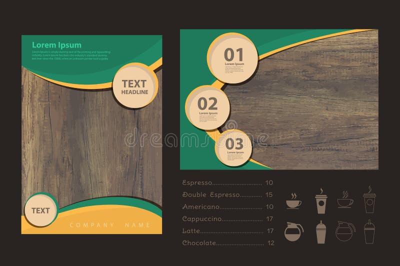 Textura de madera del vector con diseño del aviador del folleto del negocio libre illustration