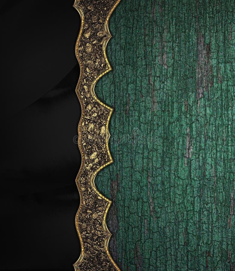 Textura de madera del viejo grunge con la textura negra para el texto ilustración del vector