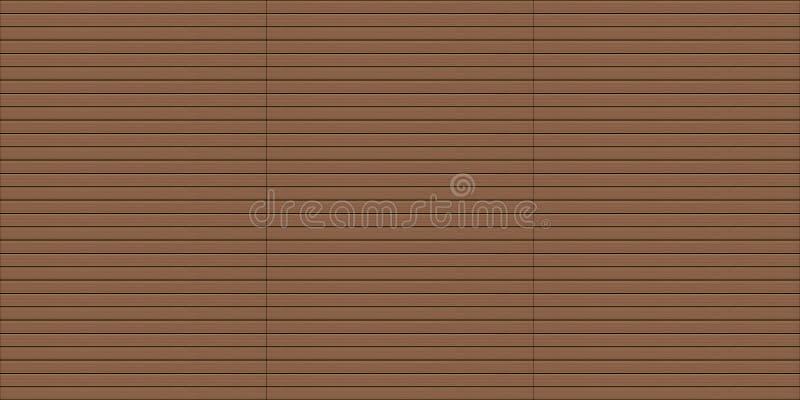 Textura de madera exterior inconsútil del decking fotos de archivo