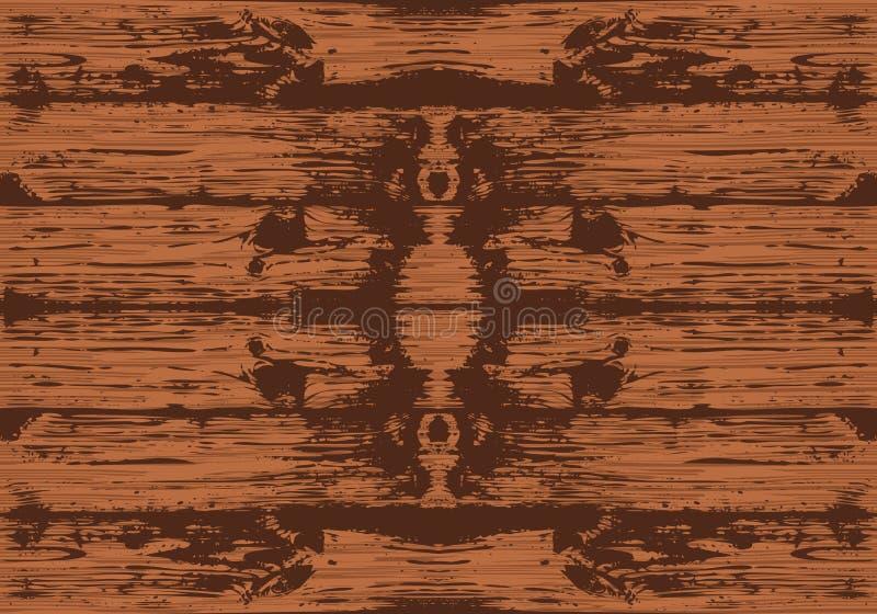Textura de madera inconsútil de Brown Vector Fondo de los tablones stock de ilustración