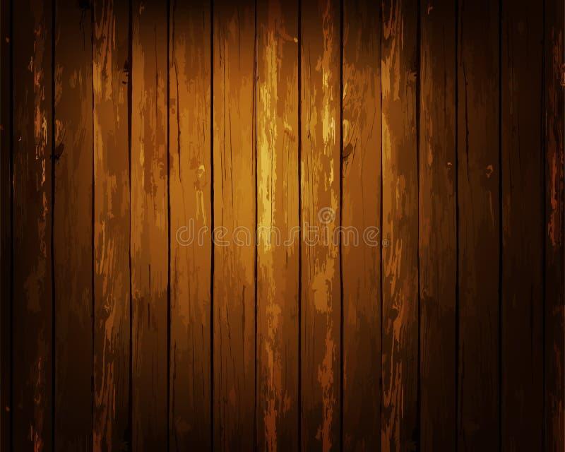 Textura de madera de la capa de los tablones para su diseño Fácil corregir el contexto de madera de la textura del vector Textura stock de ilustración