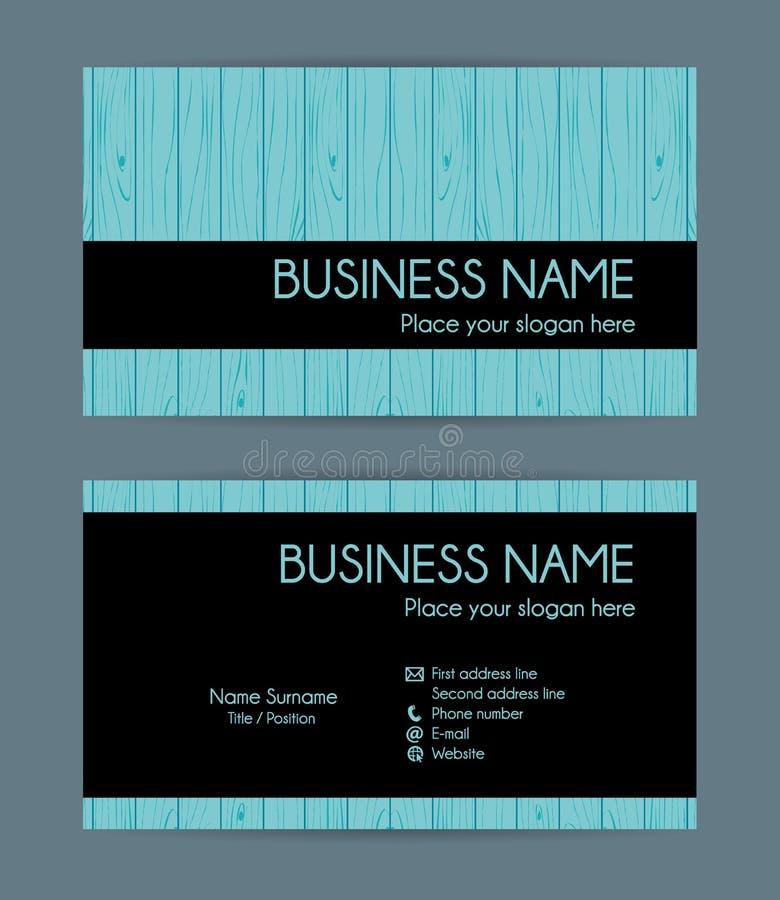 Textura de madera de la tarjeta de visita Sistema del vector libre illustration