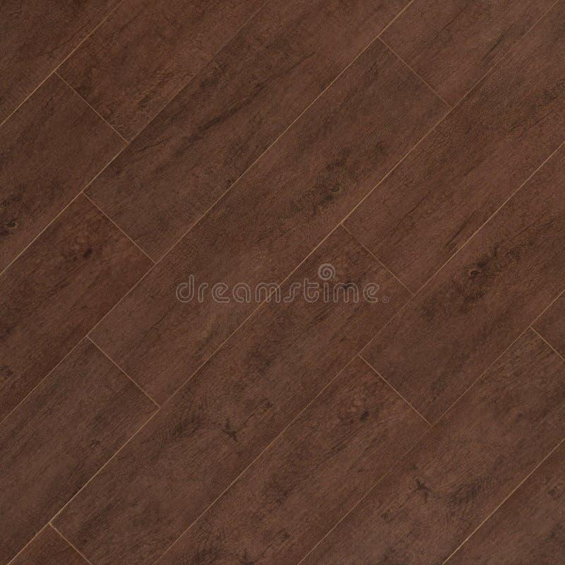 Textura de madera de la teja de la porcelana del tablón de la nuez fotos de archivo libres de regalías
