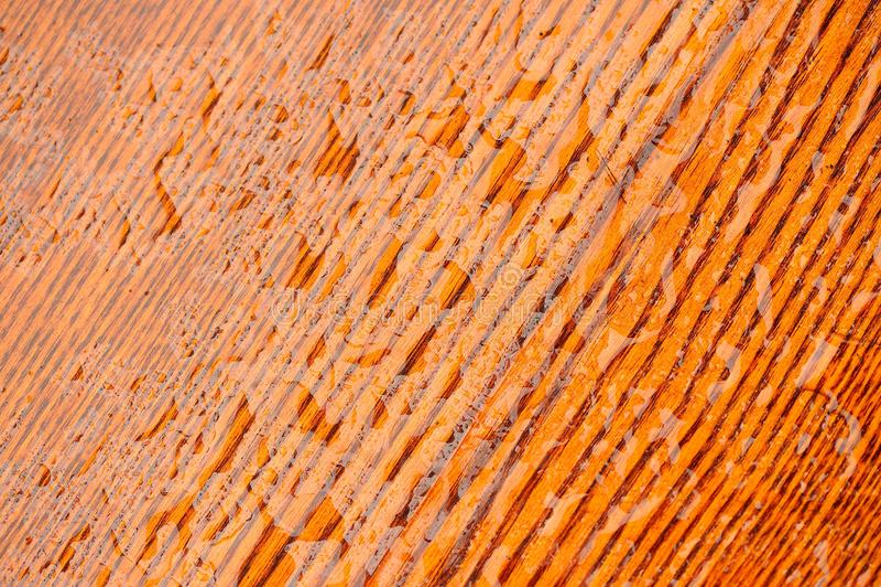 Textura de madera natural pulida con descensos del agua fotos de archivo