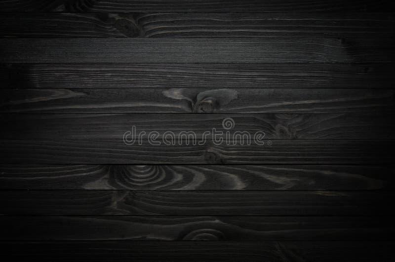 Textura de madera negra foto de archivo libre de regalías