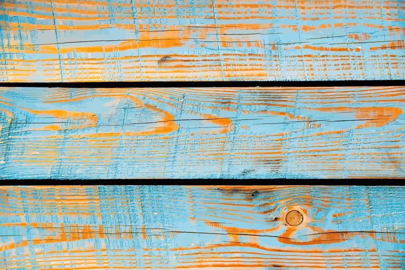 Textura de madera pintada azul, fondo del vector stock de ilustración