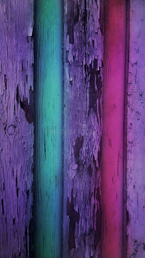 Textura de madera pintada colorida resistida del fondo de los paneles del vintage del viejo grunge rústico foto de archivo