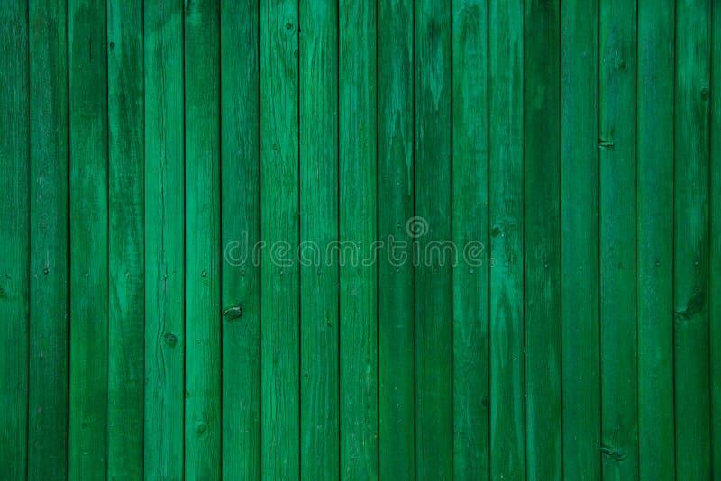 Textura de madera pintada verde del tablón del vintage vieja foto de archivo libre de regalías