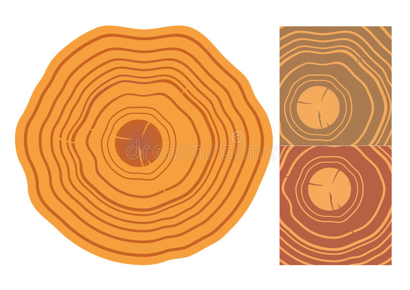 Textura de madera y elementos aislados stock de ilustración