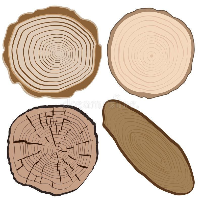 Textura de madera y elementos aislados ilustración del vector