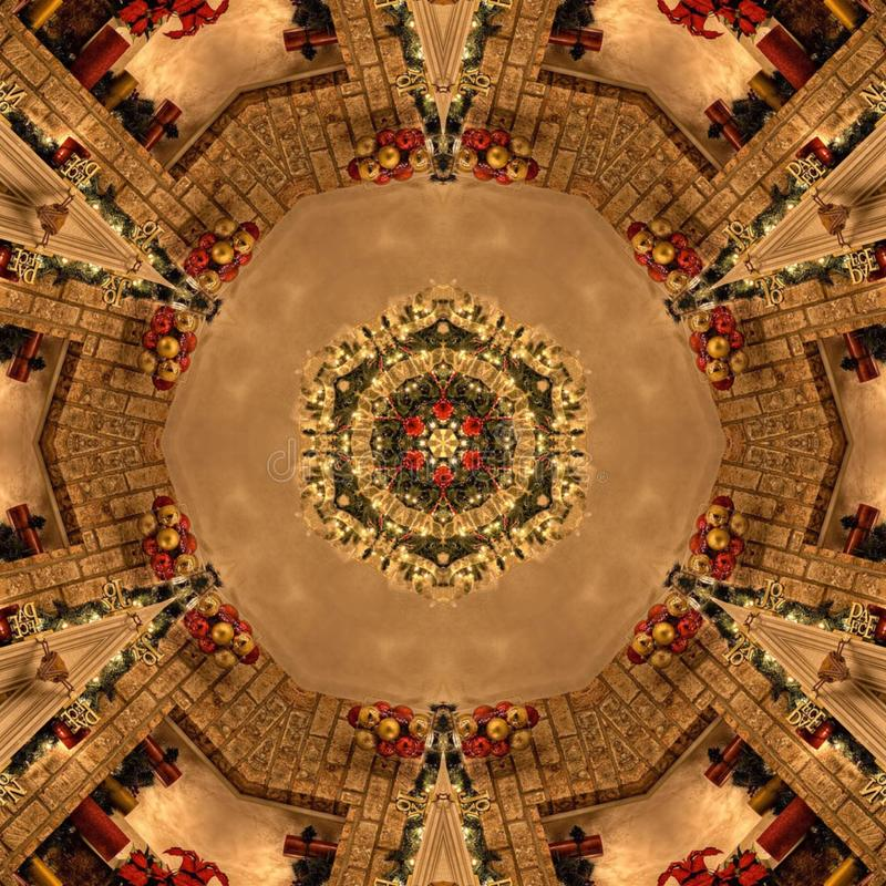 Textura de Mandala Kaleidoscope del extracto de Brown imágenes de archivo libres de regalías