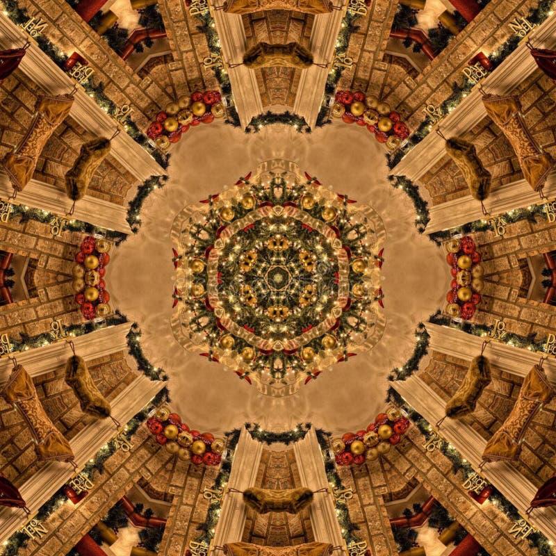 Textura de Mandala Kaleidoscope del extracto de Brown fotos de archivo